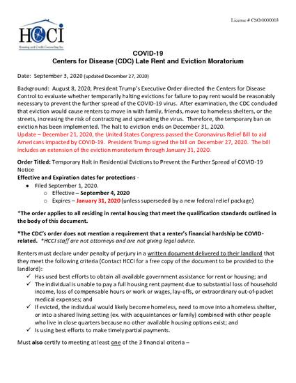 HCCI - CDC Eviction Moratorim Order - 12-27-2020.pdf
