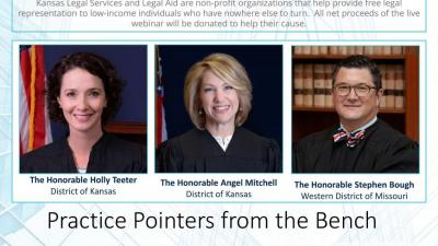 """""""Patently Prepared: Practice Pointers from the Bench"""" - April 2  Attorney CLE"""